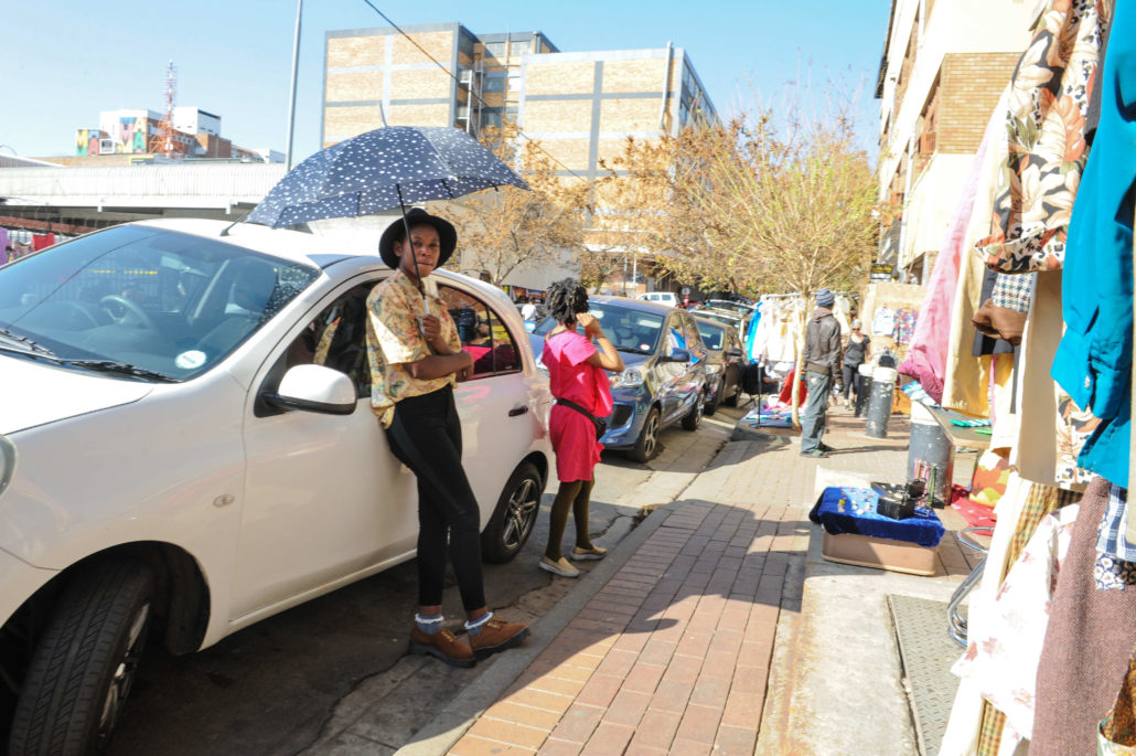 Market on Main is a Sunday event that allows artists and craftspeople to sell their wares on the sidewalks in the Maboneng precinct of Johannesburg