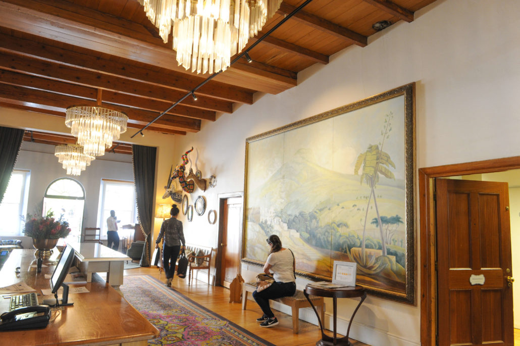 Front lobby at the Oude Werf Hotel, oldest continuous working hotel in all of South Africa