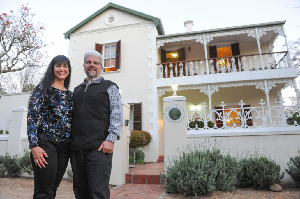 Riel and Christina Meynhardt welcome us to their Evergreen Manor and Spa in Stellenbosch