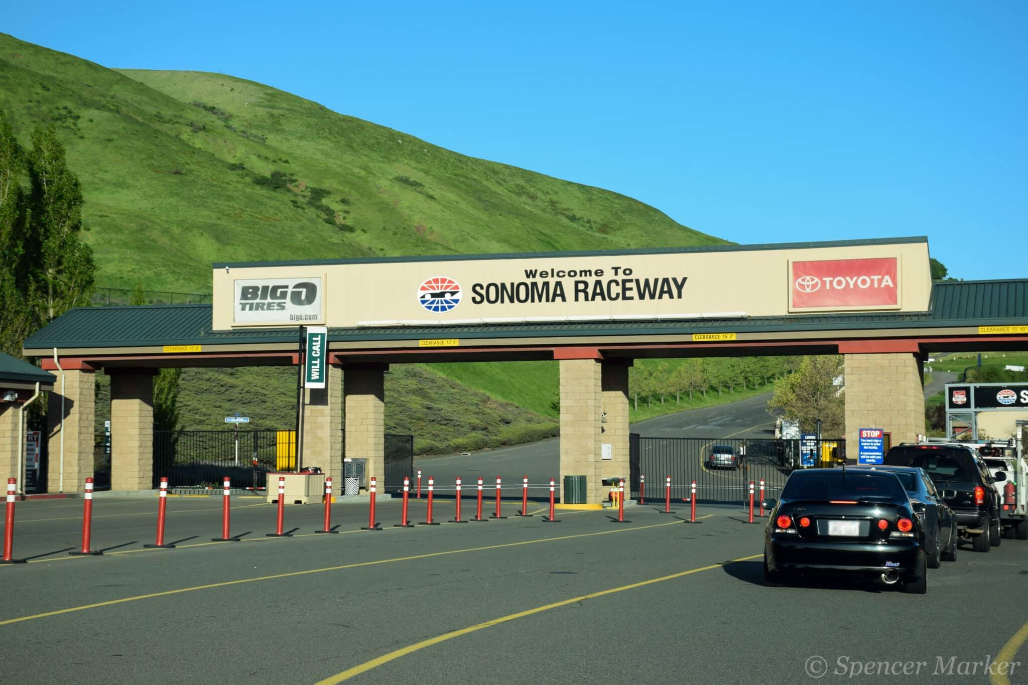 The entrance to Sonoma Raceway