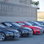 The lineup of Audi performance cars