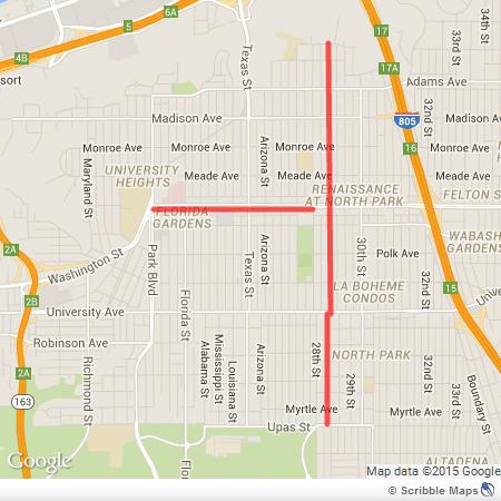 north park bike lane map