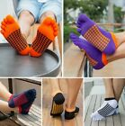 USA 5 Pack Mens Cotton Toe Five Finger Socks Ankle Low Cut Casual Sports Breathe