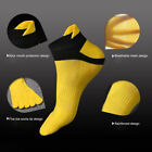 DI- Men Five Toe Color Block Breathable Cotton Low Cut Sports Ankle Socks Stylis