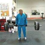 82yr old granny deadlifts 153lbs