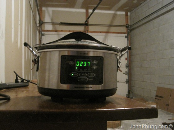 Slow Cooker In The Garage