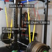DIY Power Rack Safety Suspension Strap System