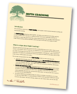 Depth Coaching Info Downloadable PDF cover