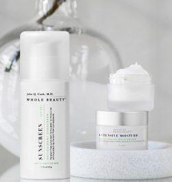 Whole Beauty® Sunscreen SPF 30 and Intensive Moisture, our daily facial moisturizer.