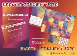Images from the Radiant Gradient 2020 Wall Calendar