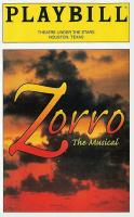 Playbill for Zorro