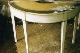 Georgian painted demi lune console table14
