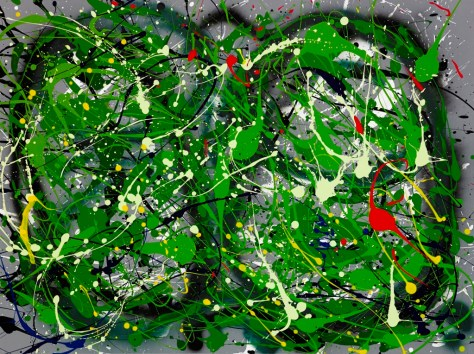 "No. 2248. ""First Earth Day 1970""  Original Mixed Acrylic on 30""h x 40""w Stretched Canvas."
