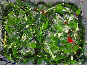 "No. 2248. ""First Earth Day 1970""  Original Mixed Acrylic on 30""h x 40""w Stretched Canvas: $3,400."