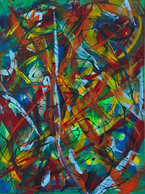 """No. 2302. """"Forgiveness Surrender and Peace"""" Original Mixed Acrylic on 40""""h x 30""""w x 1.5"""" Blick Premium Quality Stretched Canvas."""