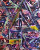 """No. 2363. """"Portal Doorways 5"""" from the Kaleidoscopic Illusion Series. $450. Original mixed acrylic paint on 20"""" x 16"""" x .5"""" stretched canvas."""