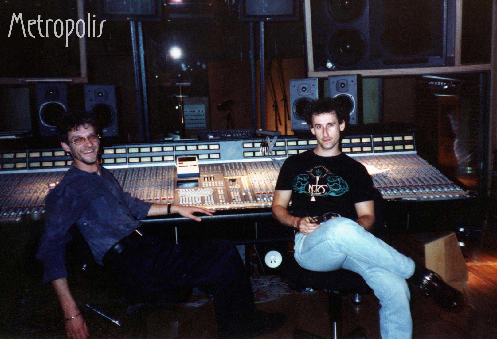 Recording at Metropolis Recording Studios, London 1990