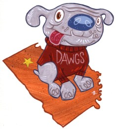 AOPA Pilot - spot illustration, Dawgs