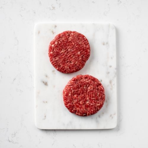Scotch beef quarterpound burgers Saunderson's Edinburgh butcher