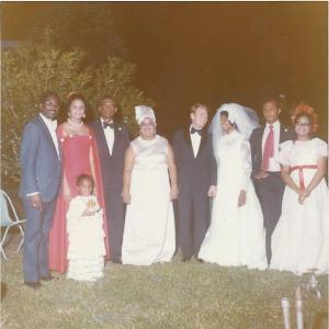 Wedding party before the ball