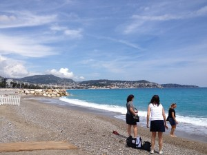 Gravel beach in Nice-1