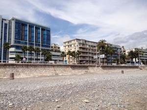 Promenade des Aglais - Nice seen from the beach-1