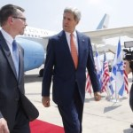9Kerry arrives at Ben Gurion Airport