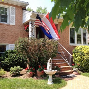 Flags on House-a