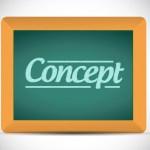 concept message on a chalkboard illustration design graphic