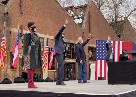 Saving the Soul of America: Mayor Keisha L Bottoms, Rev Raphael Warnock, President-Elect Joe Biden, Jon Ossoff & Stacey Abrams  Sue Ross