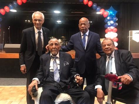 Heroes: Rev Joseph Lowery, Rev C T Vivian, Congressman John Lewis and Ambassador Andrew Young Sue Ross