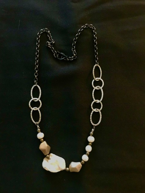 Patricia Tresness Pearl and Silver Necklace