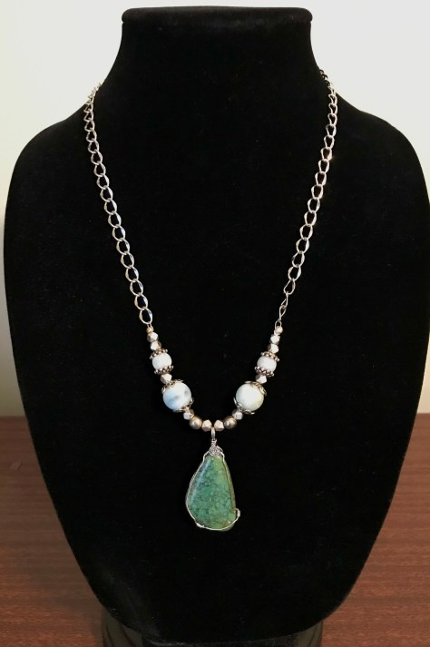 Patricia Tresness Turquoise and Amazonite Necklace