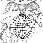 Carving aMarine Anchor and Globe Emblem