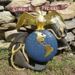 Carving a Marine Anchor and Globe Emblem: Finished