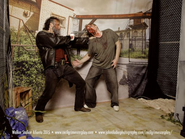 Killing zombies with Cecil Grimes at Walker Stalker 2015 Atlanta  http://www.cecilgrimescosplay.com