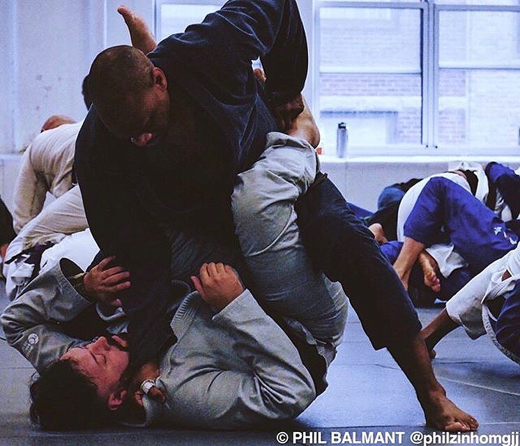 Chico and The Grin do battle. Morning jiu jitsu battles create lasting friendships. Photo cred @philzinhomgjj