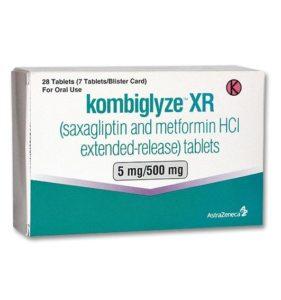 Box containing 5 mg Kombiglyze XR tablets