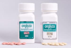2.5 and 5 mg Onglyza tablets in bottles