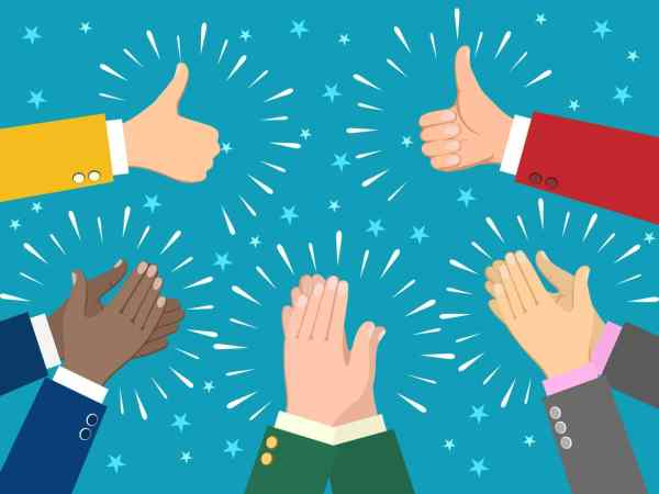 Hand claps illustration celebrating and applause