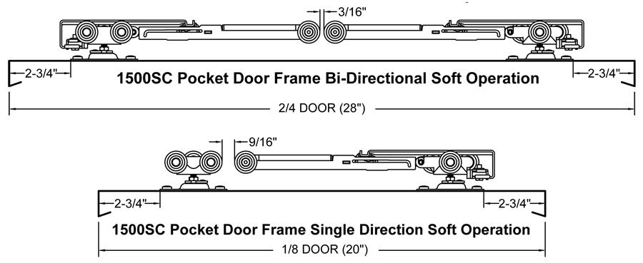 Johnson Hardware 1500sc Soft Close Pocket Door Frame