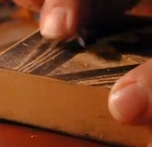 video clip showing engraving procedure