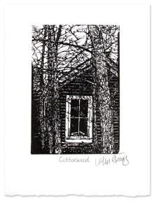 Cottonwood ~ wood Engraving