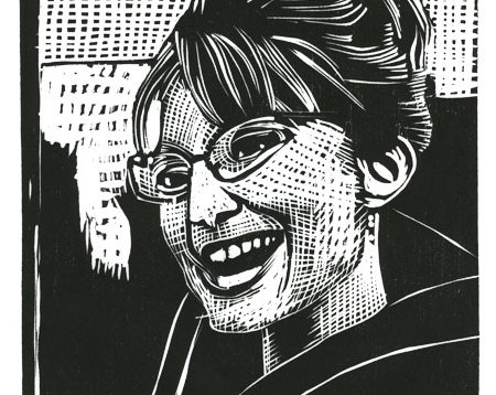 Sarah Palin Woodblock Print