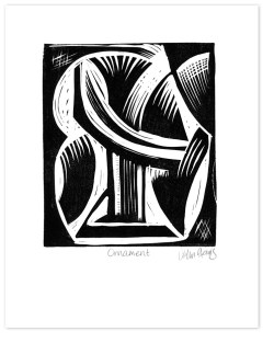 Ornament ~ lino-cut ~ John Steins