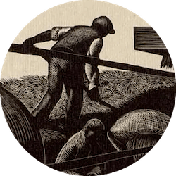 Clare Leighton ~ Threshing ~ Wood Engraving