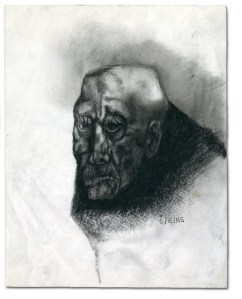 charcoal drawing by Ilgvars Steins