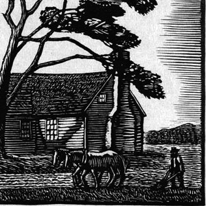 Two JJ Lankes woodcuts