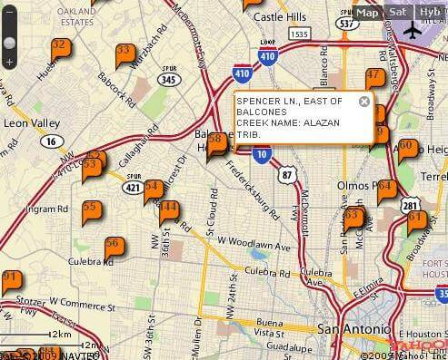 Interactive map shows low-water crossings in San Antonio