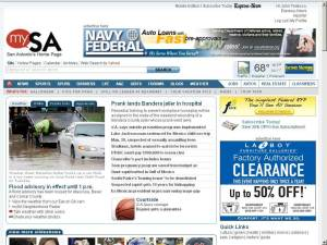 Old home page of mySA.com